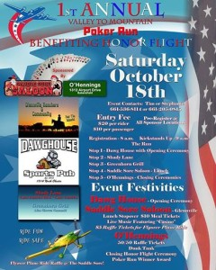 Valley to Mountain Poker Ride to Benefit Honor Flight @ Saddle Sore Saloon | Glennville | California | United States
